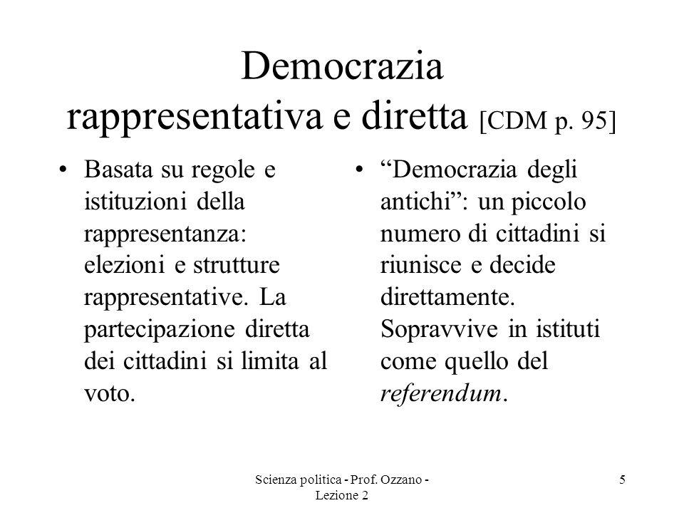 Democrazia rappresentativa e diretta [CDM p. 95]